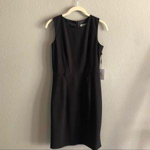 NWT CALVIN KLEIN Scoop neck black sheath dress 4P